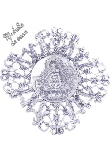 Medalla de cuna Virgen de la Cabeza 4 picos