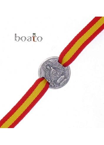 Pulsera Virgen de la Cabeza medalla con cinta España