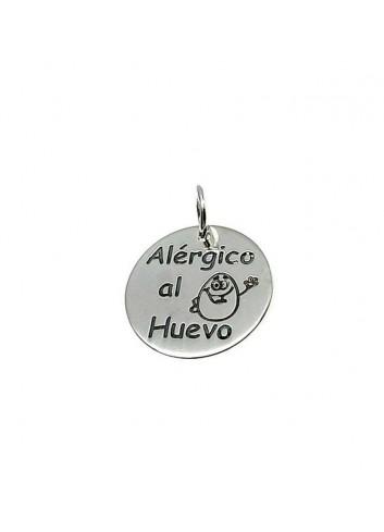"Colgante ""Alérgico al Huevo"" en plata"