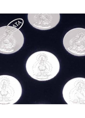 Arras Virgen de la Cabeza plata brillo 2,1cm