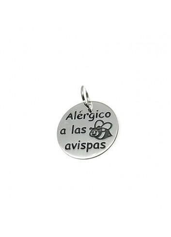"""colgante """"Alérgico a las Avispas"""" en plata"""