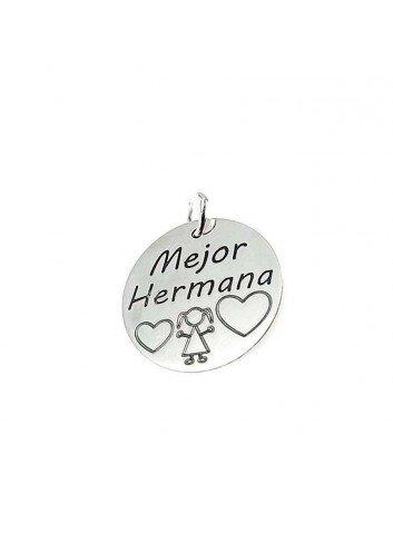 "Colgante ""Mejor Hermana"" en plata"