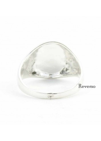 Sello Virgen Cabeza oval plata