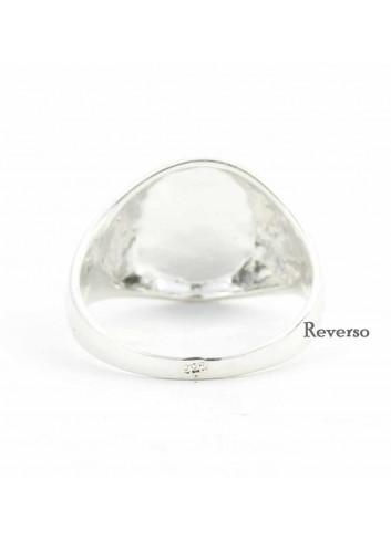 Sello Virgen Cabeza oval plata