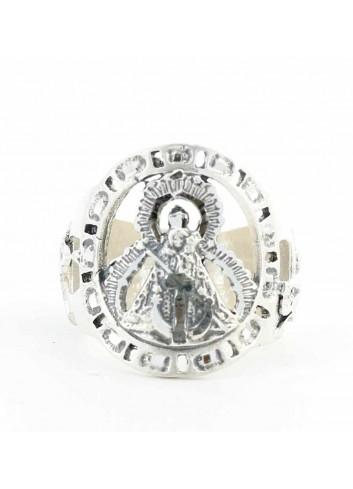 Sello Virgen Cabeza greca ancho plata