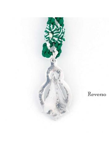 Medalla romera Virgen Cabeza oval peana