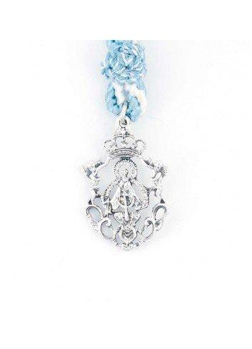 Medalla cofrade Virgen Cabeza angeles calada pequeña