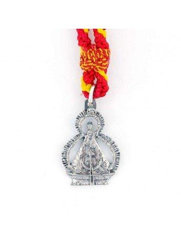 Medalla romera silueta Virgen Cabeza pequeña