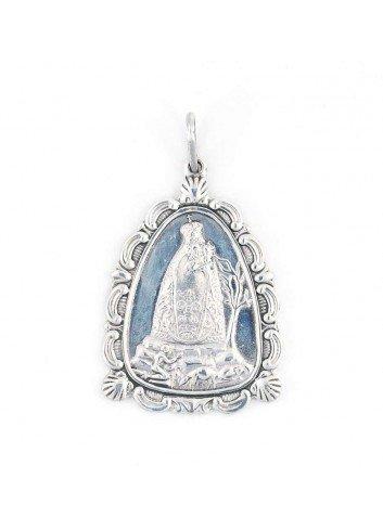 Medalla cofrade Virgen Cabeza plata aparición