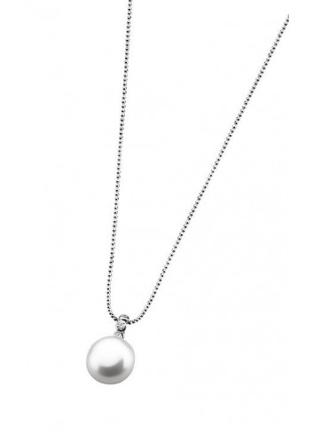 Gargantilla perla Lotus plata LP1278-1-3