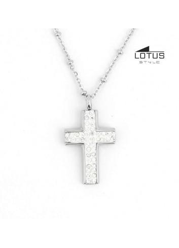 Gargantilla cruz circonitas Lotus LS1661-1-1
