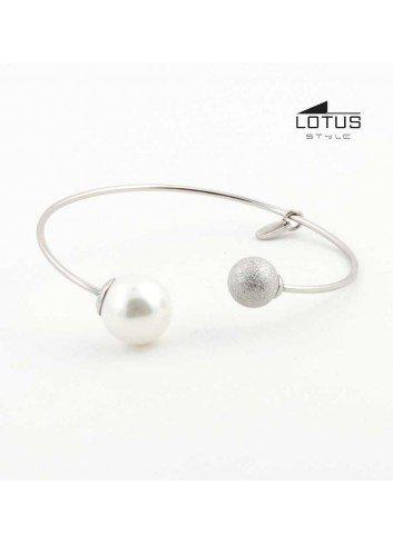Brazalete Lotus style perla bola mate LS1823-2-1