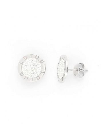 Pendientes Lotus silver cruz plata chapada LP1223-4-1