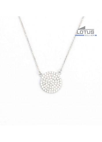 Gargantilla Lotus Silver circulo circonitas LP1258-1-1