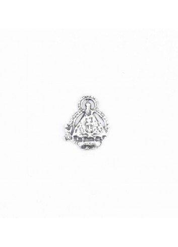 Pin Virgen de la Cabeza silueta pastor metal