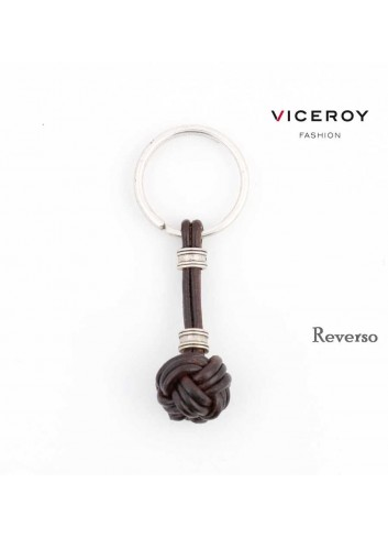 Llavero Viceroy Fashion cuero bola marinera marrón 1203L09011