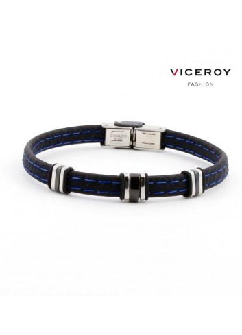 Pulsera Viceroy Fashion hombre silicona pespunte azul 6333P09013