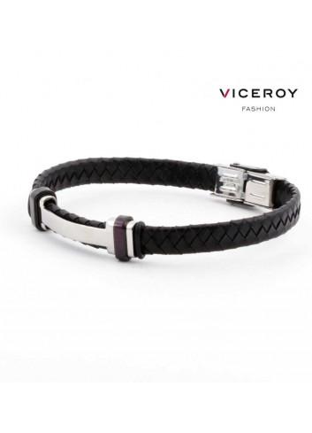 pulsera-viceroy-fashion-hombre-acero-h-cuero-trenzado-negro-6336p09010