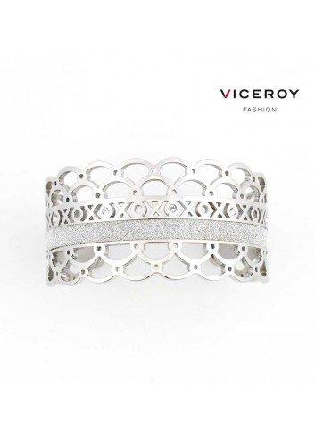 Brazalete Viceroy Fashion acero circonitas y ondas 80002P11000