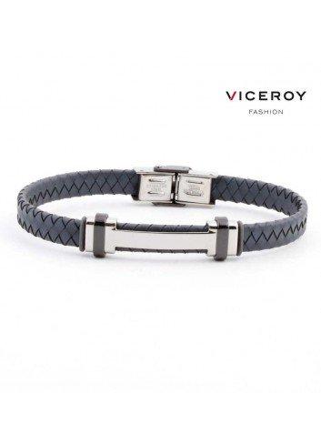 pulsera-viceroy-fashion-hombre-acero-h-piel-trenzada-gris-6336p09000