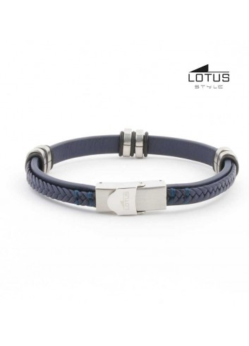 pulsera-lotus-cuero-trenzado-azul-oscuro-sobre-plano-ls1829-2-5
