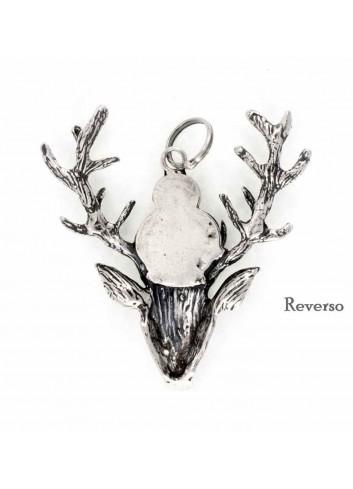 Medalla Virgen de la Cabeza ciervo plata