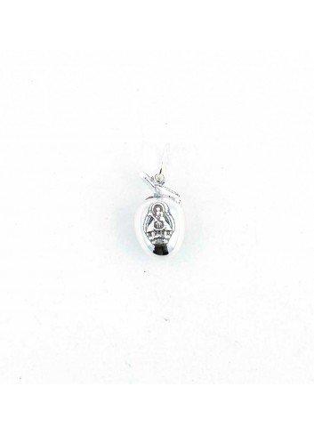 Colgante aceituna con Virgen de la Cabeza plata