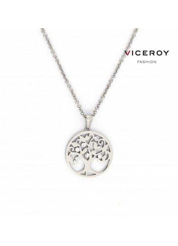 Colgante Viceroy arbol de la vida acero calado circonitas 80007C01000