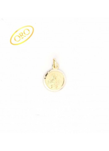 Medalla Virgen de la Cabeza oro redonda 12 mm