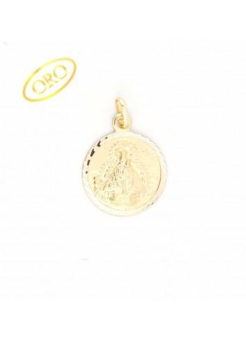 Medalla Virgen de la Cabeza oro redonda 20 mm
