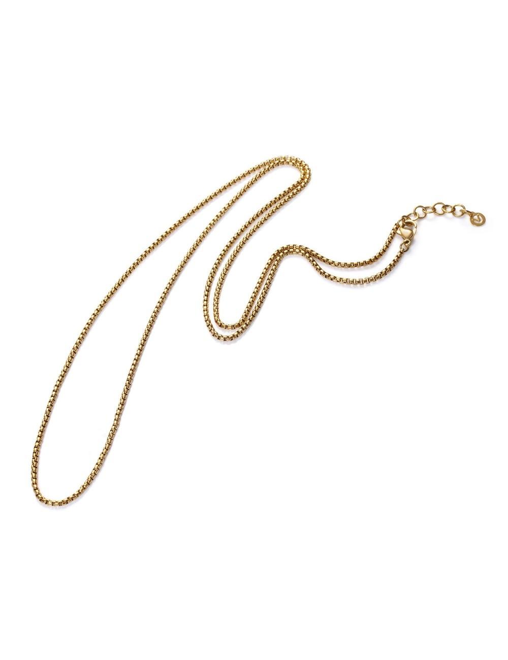 Cadena Viceroy acero chapada oro IP 77 cm VMPM80-06