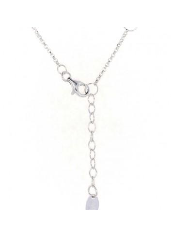 Gargantilla Lotus plata corazón calado con circonitas LP1638-1-1