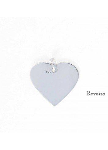 Corazón plata liso personalizable 2,4x2,2