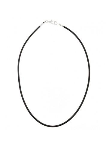 cordon-cuello-cuero-25-mm-negro-40-cm-largo