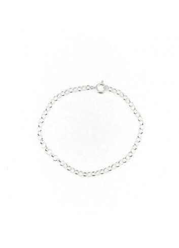 Pulsera cadena rolo 15 cm plata