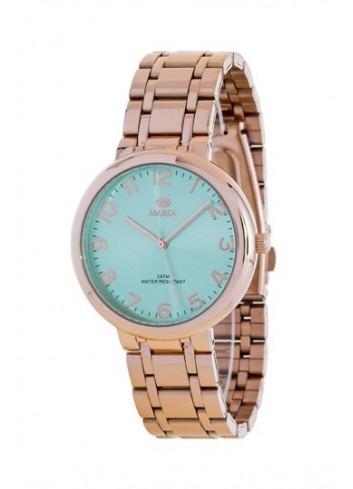 reloj-marea-mujer-cadena-chapado-oro-rosa-b41189-11-verde