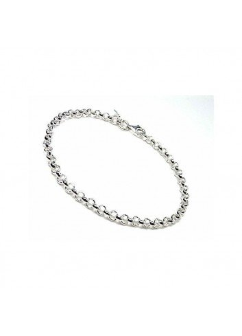 Pulsera cadena rolo plata 0,45