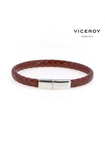 pulsera-viceroy-fashion-hombre-cuero-trenzado-burdeos-6398p09017