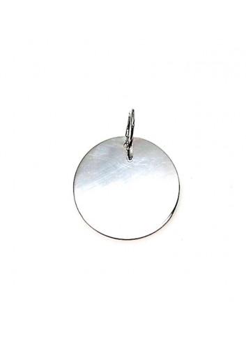Colgante redondo plata 21mm personalizable