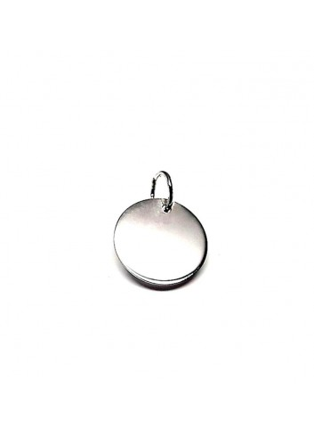 Colgante redondo plata 12 mm personalizable