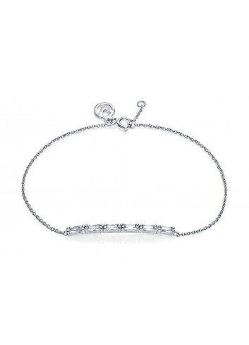 Pulsera Viceroy Jewels barra circonitas baguette plata 7053P000-30