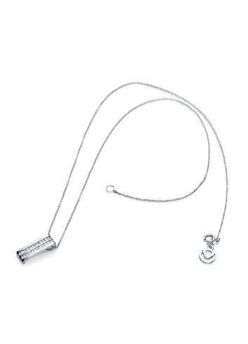 Gargantilla Viceroy Jewels con colgante doble carril circonitas plata 7055C000-30