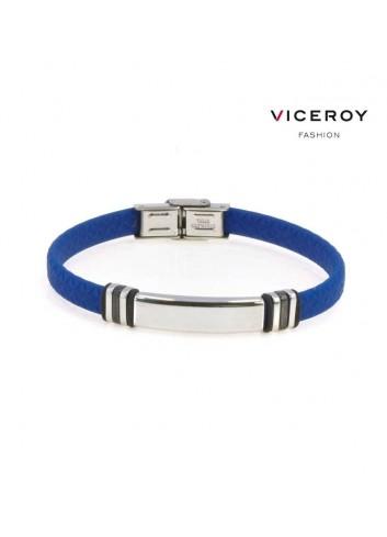 pulsera-viceroy-fashion-hombre-acero-chapa-silicona-azul-6432p09013