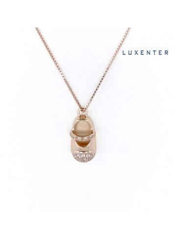 gargantilla-luxenter-zapato-bebe-circonitas-plata-chapada-oro-rosa
