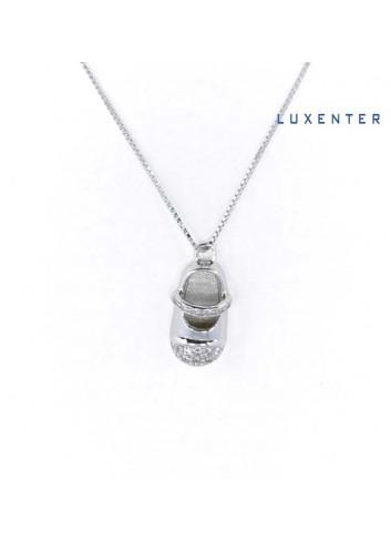 gargantilla-luxenter-zapato-bebe-circonitas-plata