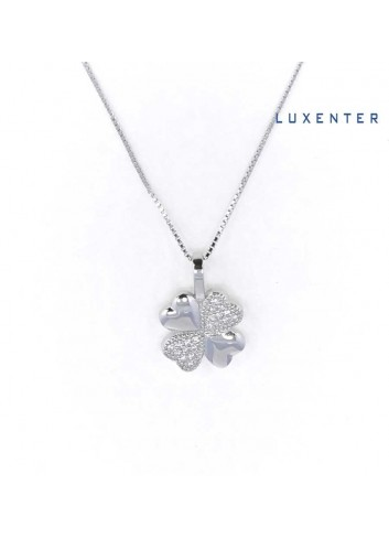 gargantilla-luxenter-flor-trebol-circonitas-plata