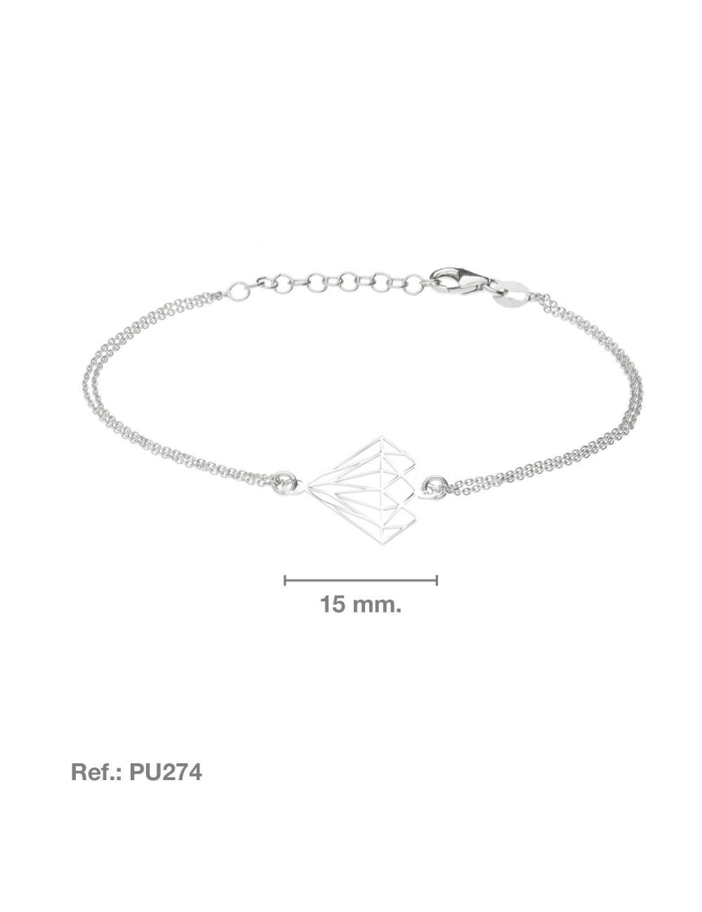 pulsera-con-diamante-plata-calada-doble-cadena
