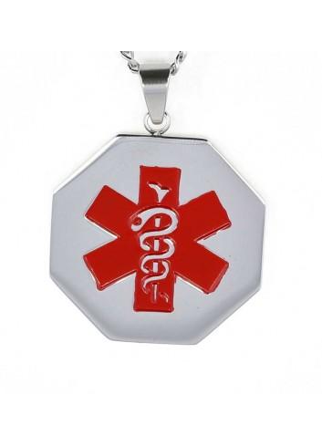 colgante-placa-alerta-medica-acero-forma cuello