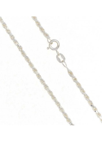 Cadena plata cordón 60 cm 2,4mm