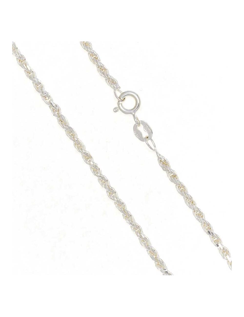 0b1fda631d7e Cadena plata cordón 50 cm 2